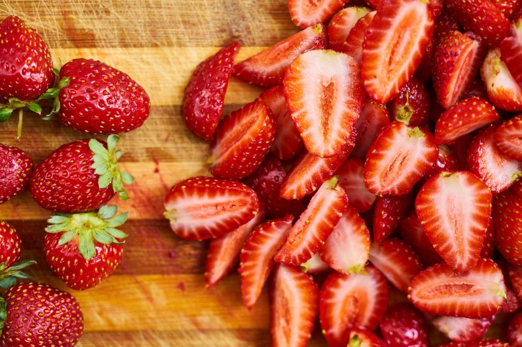 strawberries on chopping board; The Best Food Items for Men Approaching 50: Part Three